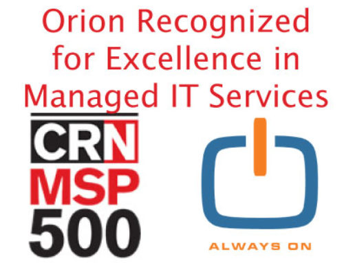 Orion Recognized for Excellence in Managed IT Services