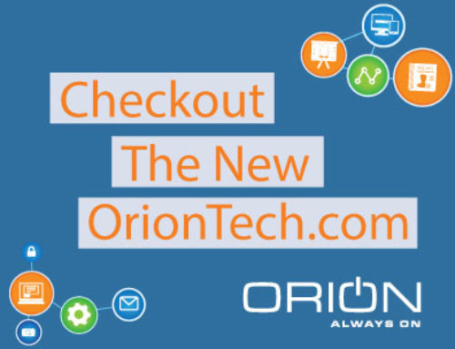 What's New: OrionTech.com